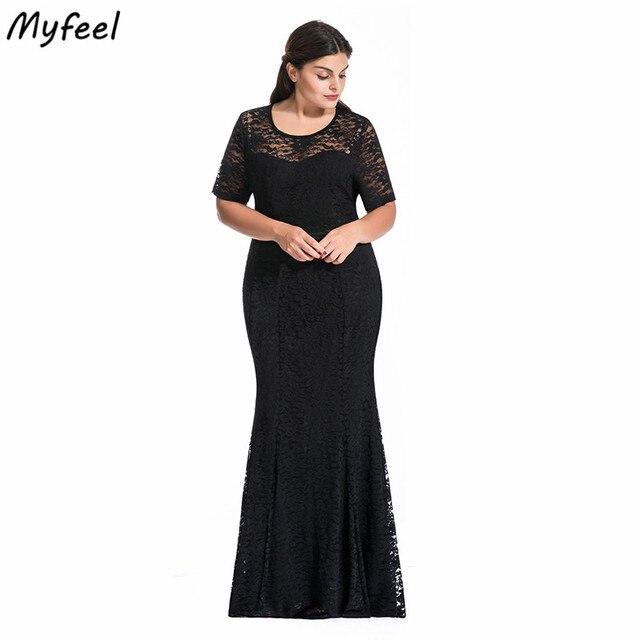 Myfeel Women Plus Size Dress Ruched Empire Waist Sweetheart Mermaid ...