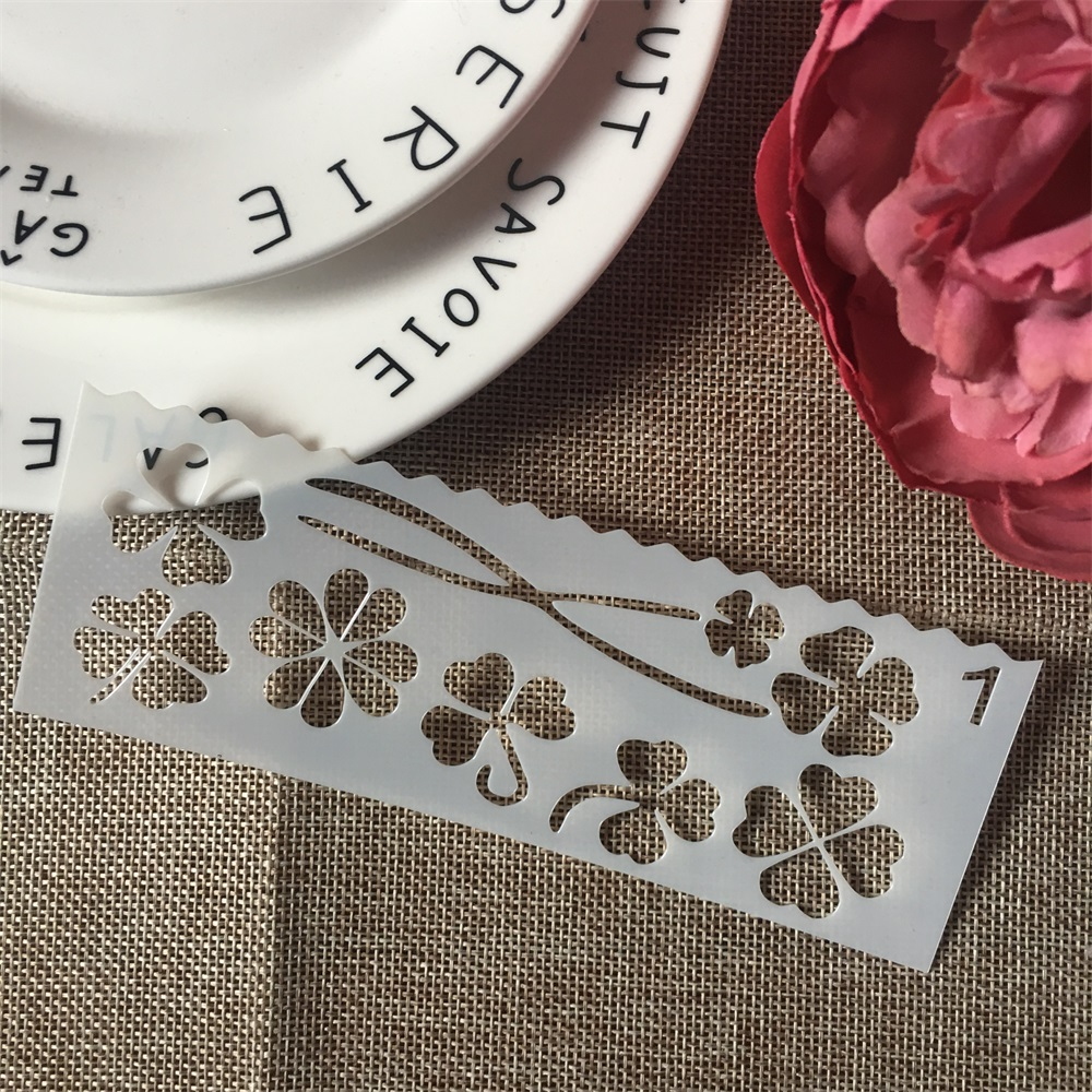 1Pcs 15x5cm Clover DIY Craft Layering Stencils Wall Paint Scrapbook Stamp Embossing Album Decorative Card Template