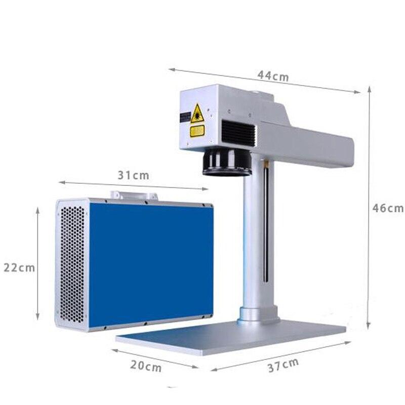 Machine de marquage Laser à Fiber optique 20 W Machine de gravure Radium Portable en acier inoxydable marquage/sculpture en métal AS-20