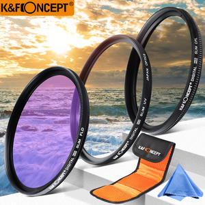 K&F CONCEPT 37/40.5mm UV CPL FLD Camera Lens Filter Kit+Filter Bag+Cleaning Cloth For Canon Sony Nikon All DSLR Camera