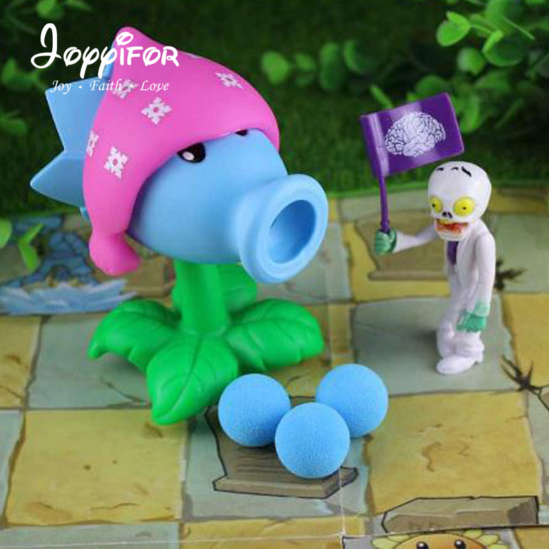 2017 PVZ Plants vs Zombies Peashooter PVC Action Figure Model Toy Gifts Toys For Children High Quality Brinquedos, In OPP Bag new arrival plants vs zombies plush toys 30cm pvz zombies soft stuffed toy doll game figure statue for children gifts party toys