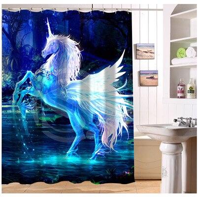 W522#67 Custom brown white black horse s2 Modern Shower Curtain bathroom Waterproof Free Shipping #fj67