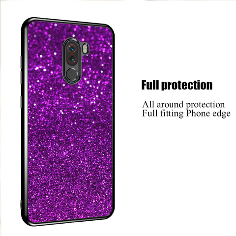 Case for Xiaomi Redmi 6A 5A 4A 4X Note 4 4x S2 cover case for xiaomi redmi 5 Plus Pocophone F1 Mi 8 Lite Glitter Phone cases Lahore