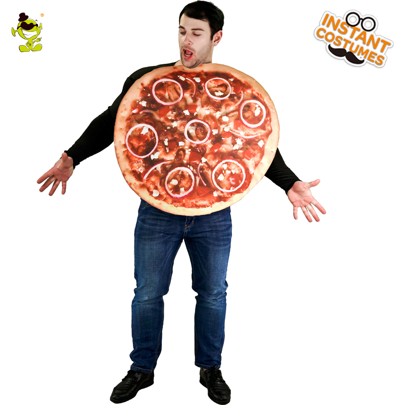 New Adult Male Pizza Costume Funny Sandwitch Food Cosplay Carnival Party Performance Halloween Food Costumes For Adults