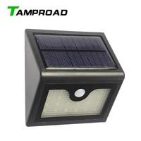 TAMPROAD Solar Powered Motion Sensor Light Outdoor 20LED Wall Lamp Corridor Fence Roof Top Garden Gate Porch Door Patio Lighting