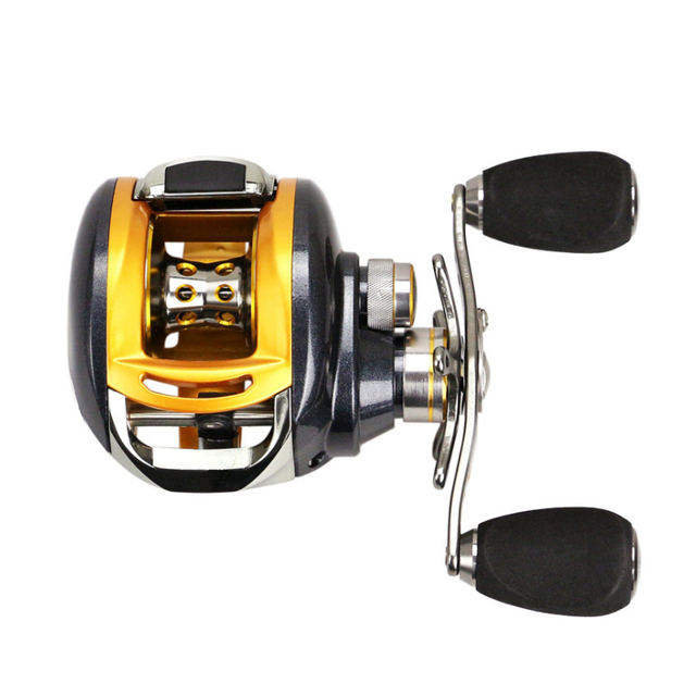 Cheap YUMOSHI 12+1BB Left Right Hand Halleluyah wheel Fishing reel Metal wire cup Speed Ratio 6.2:1 Centrifugal magnetic Brake