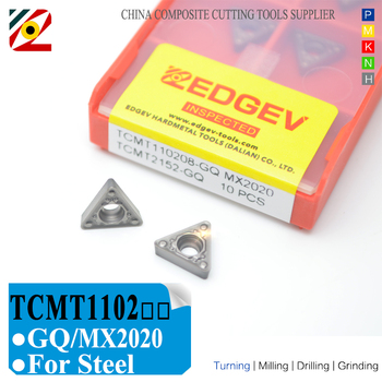 EDGEV Cermet Carbide Inserts TCMT110202 TCMT110204/08 GQ MX2020 CNC Boring Lathe Turning Tools To substitue HQ TN60 ccmt09t308 mt ct3000 cermet inserts carbide alloy cutter boring cnc lathe turning tools machining steel