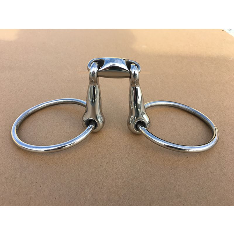 Stainless Steel Ring  Snaffle Bit Loose Ring Horse Bit Horse Product 4-3/4