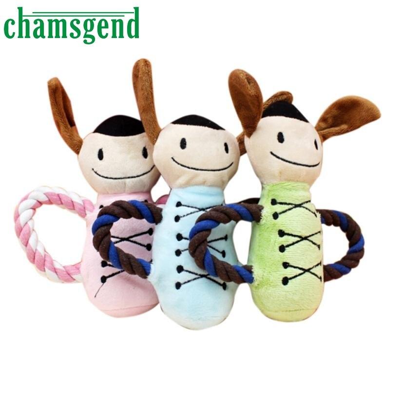 Nuevo Perro Juguetes Para Mascotas Chew Squeaker Squeaky Felpa Sonido muñeca Jug
