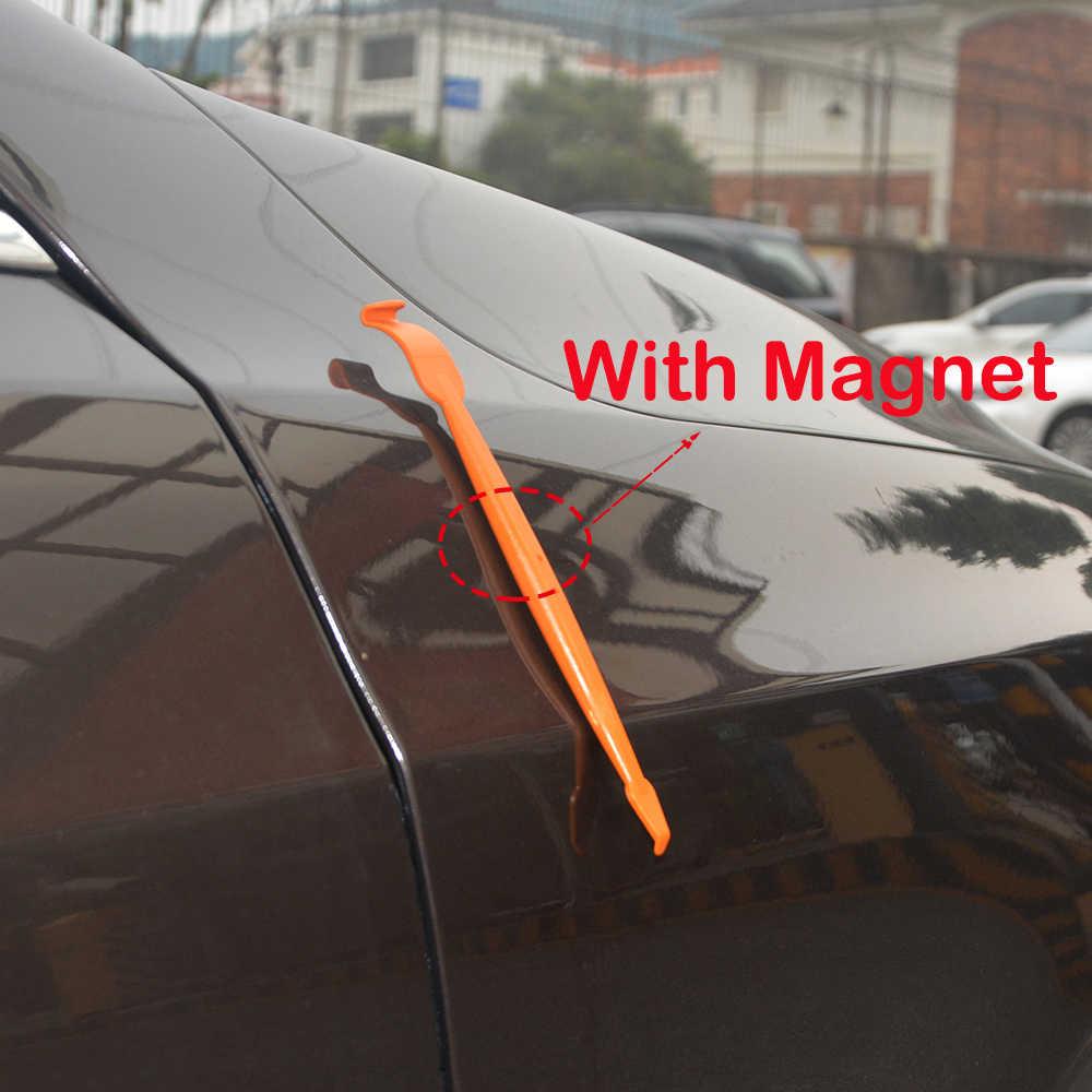 EHDIS herramientas para vinilo coche de Micro magnético palo líquidos rascador coche de película de papel de corte cuchillo Auto Accesorios