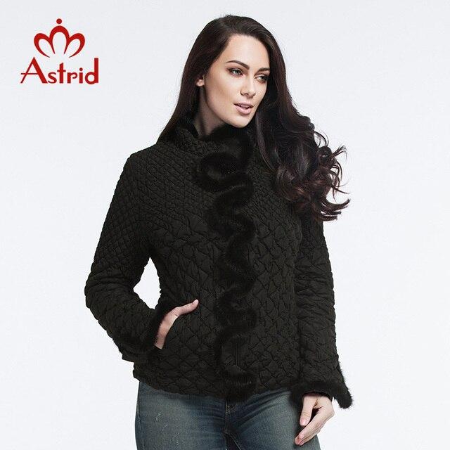 Женская куртка с натуральной меховой оборками сплошная стежка одежды имеют большую гибкость тонкий стиль весна и лето модная женская парка большой размер 2016 Астрид XL-6XL AM-8828