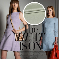 2015 Early Autumn Candy Tri Color Fine Woolen Suits Liangsi Wool And Linen Fabric Material Wholesale