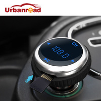 Urbanroad Auto Fm-zender Met Bluetooth USB Mp3 Mp4-speler Auto Kit Draadloze Fm-zender Dual USB Lading Lcd-scherm