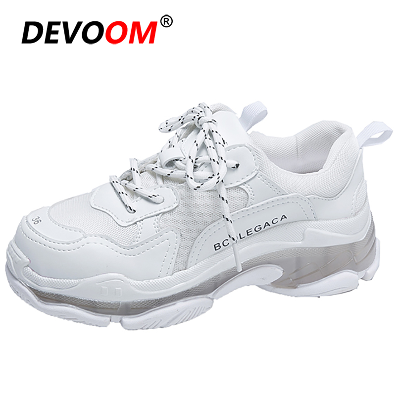 New Fashion Witte Sneakers Dames Summer Breath Korean Shoes Woman Flats Women's Shoes Basket Femme Sneakers Women Triple S Shoes