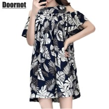 dc6377603989 5XL 4XL 3XL Plus size Dress Women Elegant Off the shoulder Dresses Straight  Kawaii Loose Pleated Floral Extra Large Vestidos