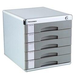 Офисные принадлежности с замком файл Шкатулка-комод, пять слоев твердого пластика Аутентичные способные канцелярские настольные