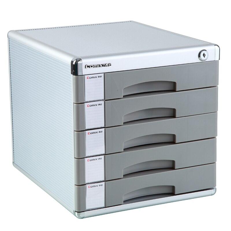 Fournitures de bureau avec boîte de classeur de serrure, cinq couches de bureau de papeterie Capable authentique en plastique dur