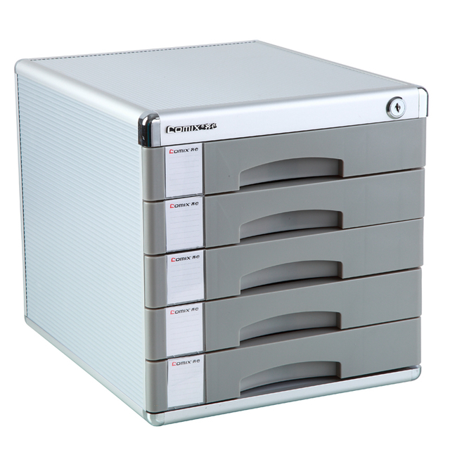 Office Supplies With Lock File Cabinet Box, Five Layer Of Hard Plastic  Authentic Capable Stationery