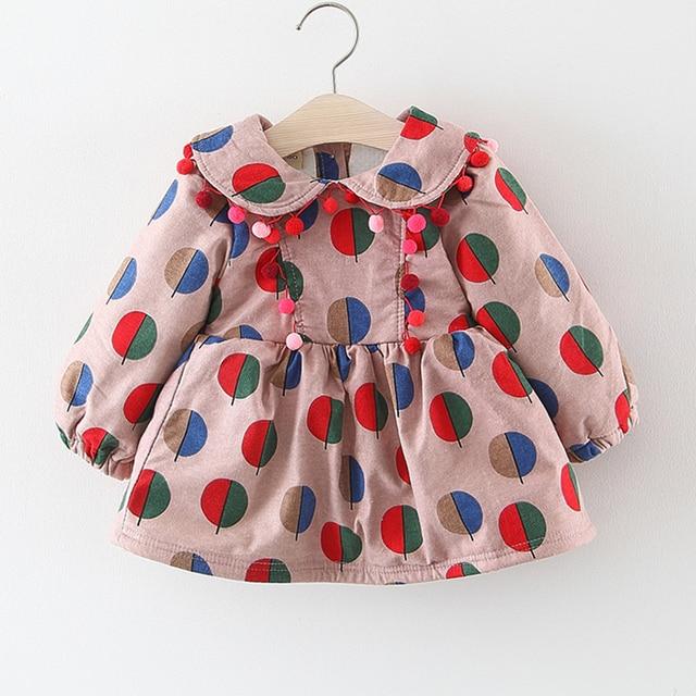 33e4f5b499a4 Baby Dress Cotton Dress 1 Year Old Baby Girls Dress Winter New Born ...