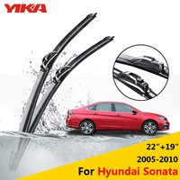 YIKA Car Rubber Glass Wiper Blades For Hyundai Sonata 22 19 Fit Hook Arms 2005 2006