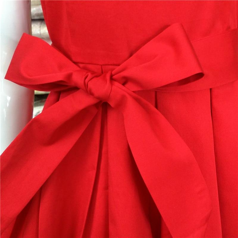 Red Black Audrey Hepburn Стиль 1950s рокабилли Dress - Әйелдер киімі - фото 6