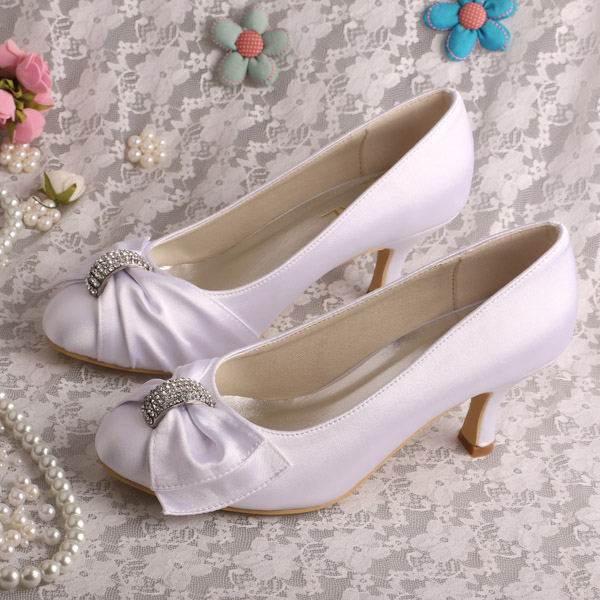 376d84dd6031 Brand Name Satin Wedding Ivory Heels Women Pumps Plus Size 9 Dropshipping-in  Women s Pumps from Shoes on Aliexpress.com