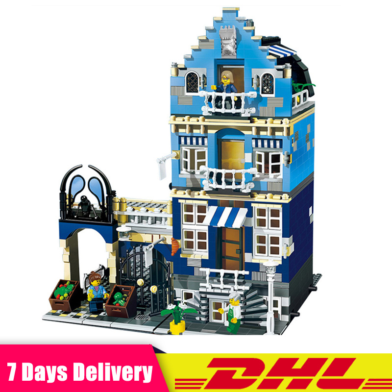 LEPIN 15007 1275Pcs European Market City Street Model Building Blocks Bricks Modular Set Kids Toys Compatible LegoINGlys 10190 цена
