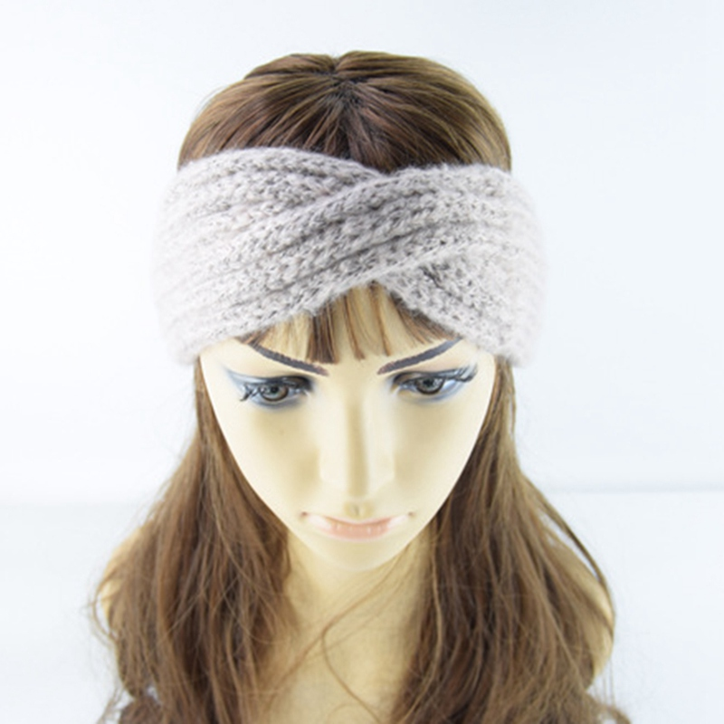 1 PC  Lady Crochet Turban Knitted Head Wrap Hairbands Winter Warmer Headbands New Arrival Hair Bands Accessories