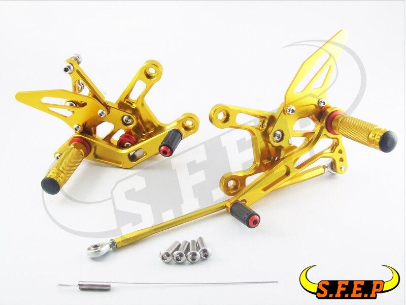 CNC Adjustable Rearsets Rear Sets foot pegs For Kawasaki ZX10R 2011-2012-2013-2014