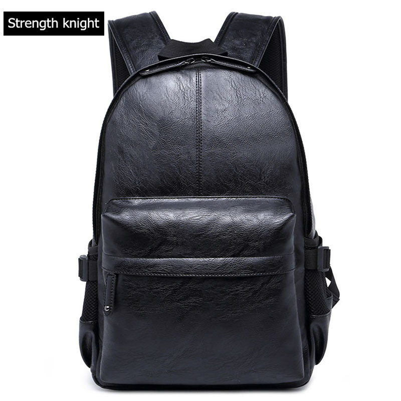 Lelaki PU Kulit ransel Lelaki Fesyen Daypacks kasual & Perjalanan Beg Beg Gaya College Mochila Feminina