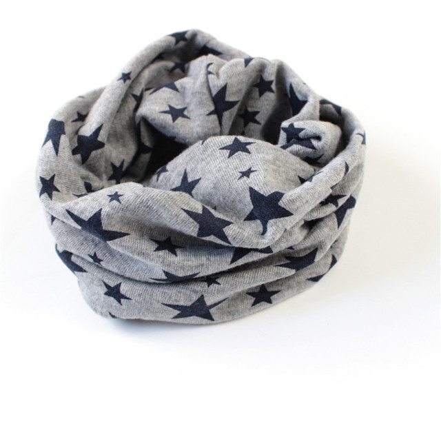 Stars Print Ring Scarves for children Warmer Scarf Autumn Winter Kids Boys Girls Neckerchief Collar Hat Mask