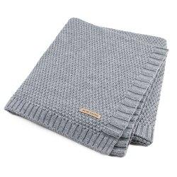 Детское одеяло вязаное Пеленальное Одеяло для новорожденных супер мягкие постельные принадлежности для малышей одеяло для кровати диван К...