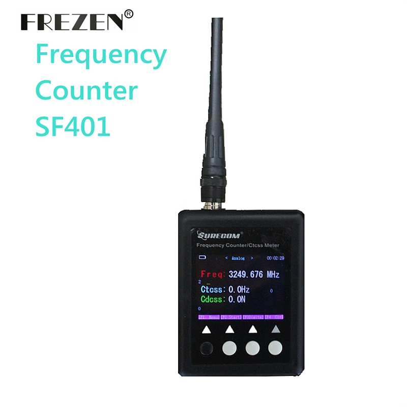 NEW SURECOM Digital Radio Tester 27Mhz-3000Mhz Decoder Portable Frequency Counter For Walkie Talkie Sf401 Plus CTCSS CDCSS Meter