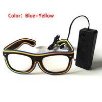 30 штук Оптовая Флуоресцентный Очки со звуком контроллер холодный Неон Очки EL Очки для Праздничное освещение Декор
