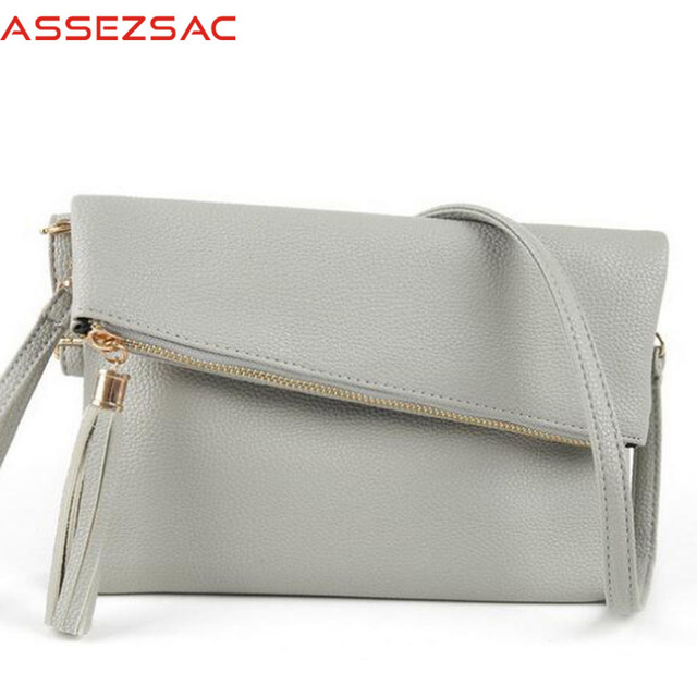 Assez sac new sale women messenger bags tassel handbags women handbags pu leather bag single shoulder bags clutch bolsas totes