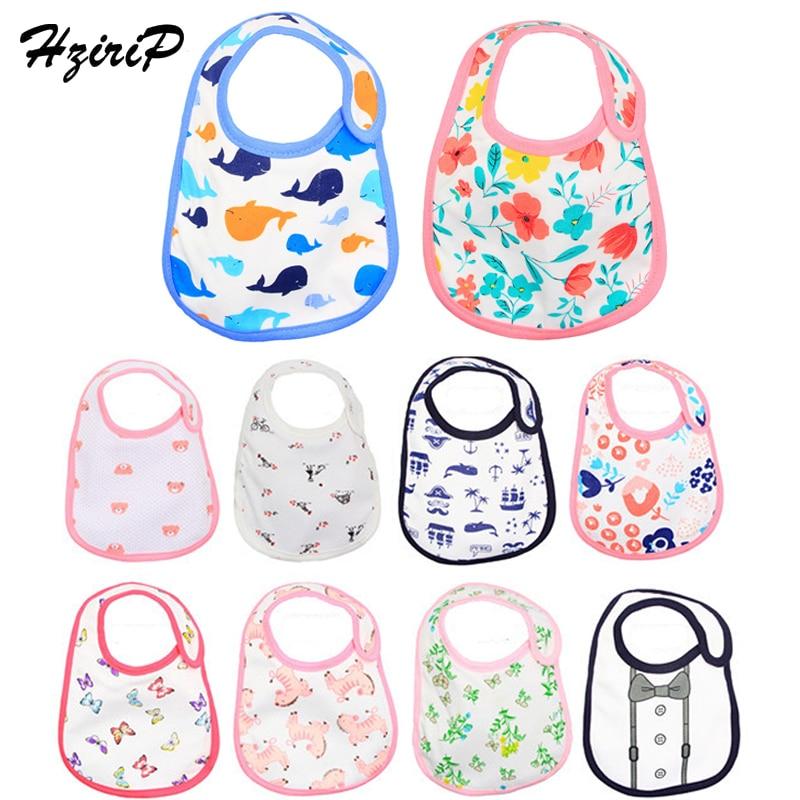 HziriP New Baby Bibs Towel Saliva Waterproof Cartoon Printing Infant Burp Clothes Feeding Toddler Girls Boys Bibs Hot Selling