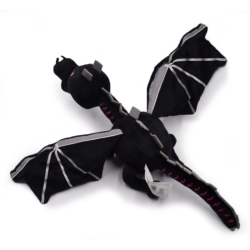60cm 1 Styles My World Ender Dragon Plush Toy Soft Black Enderdragon PP Cotton Dragon Toys Free Shipping