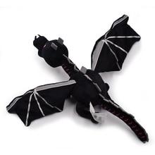 60cm 1 Styles My World Ender Dragon Plush Toy Soft Black Enderdragon PP Cotton Dragon Toys Free Shipping все цены
