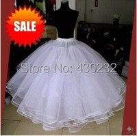 המכירה הטובה ביותר לבן 4 שכבות שמלת טול תחתוניות תחתוניות לשמלת כלה אביזרי חתונה כדור שמלת תחתונית חצאית אין חישוקי