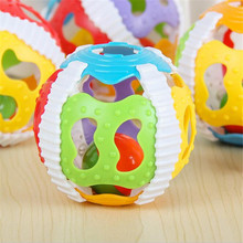 Colorful Bell Baby Toys 0-12 months Ring Ball Early Educational Toys For Children Kids Soft Glue Hand Shake Crawling Toy Bells