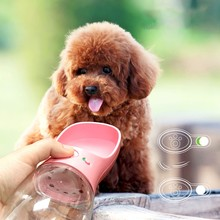 Portable Dog Water Bottle Pet Cup for Dogs/Cats Container Drinking Bowls Outdoor Travel 350/500ML