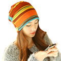 [Ode To Joy]Female Beanie Bonnet Autumn And Winter Caps Hip-hop knitted women skullies&Beanies hot sale fashion style colorful