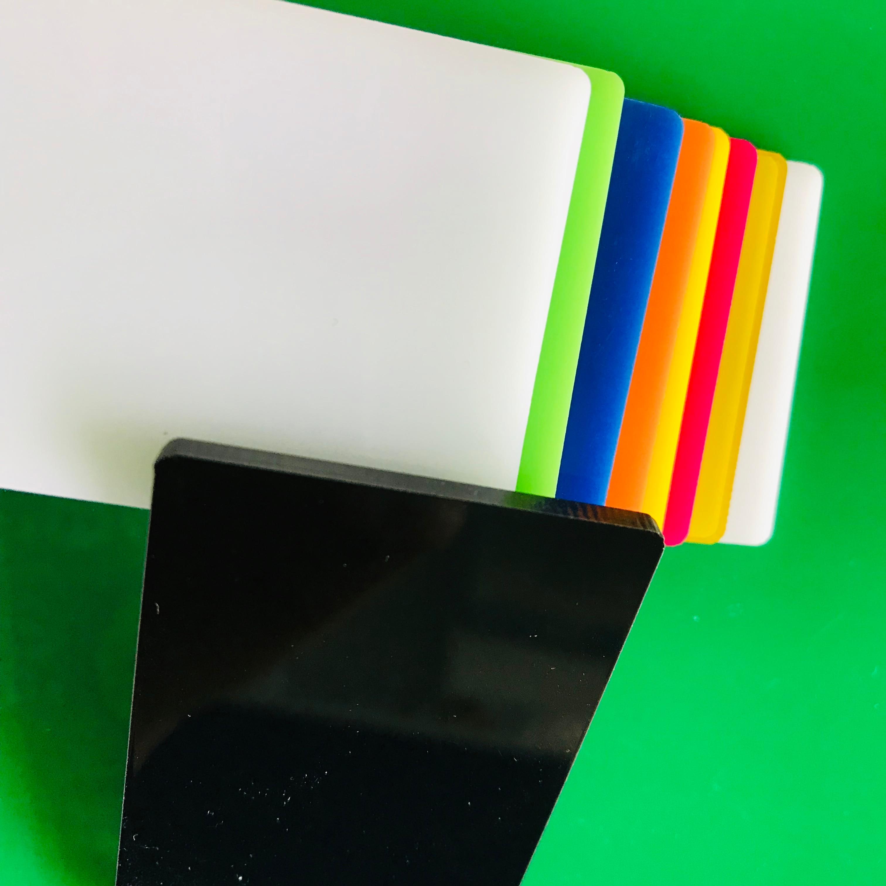200x200x2mm 18 pieces black acrylic sheet plaque