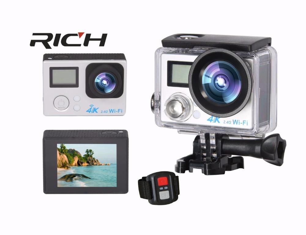 цена на S200DR 4K Action Camera 2.0 Double LCD Display 16MP Sports WiFi Camera 30M Waterproof 170 angle HDMI sport camera add TF card