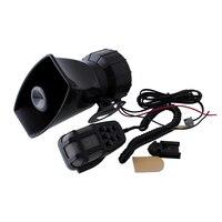 Hot 80W 5 Sound Horn Siren PA System 12V Warning Loud Megaphone Mic Auto