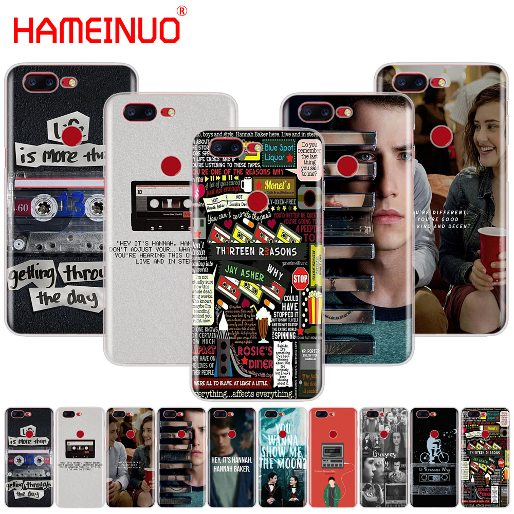 HAMEINUO Thirteen 13 Reasons Why Quotes cover phone case for Oneplus one plus 5T 5 3 3t 2 X A3000 A5000
