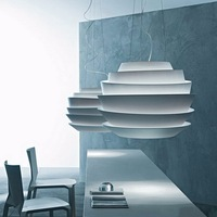 Nordic Home Decoration Wave Pendant Lights White Rose Pendant Lamp Dining Room Hang Lamp E27 Fixtures Free Shipping