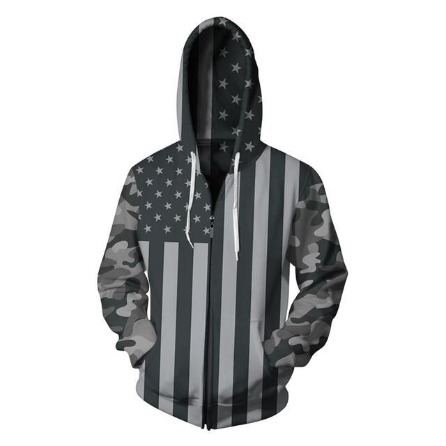 6892a90ea797 1722.65 руб. 30% СКИДКА|Новинка 2017 года осень зима Мода американский флаг  цифровой ...