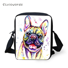 ELVISWORDS Flaps Messenger Bags Small Little Bulldogs Prints Pattern Women Cute Girls Crossbody Bag Fashion Shoulder Purses
