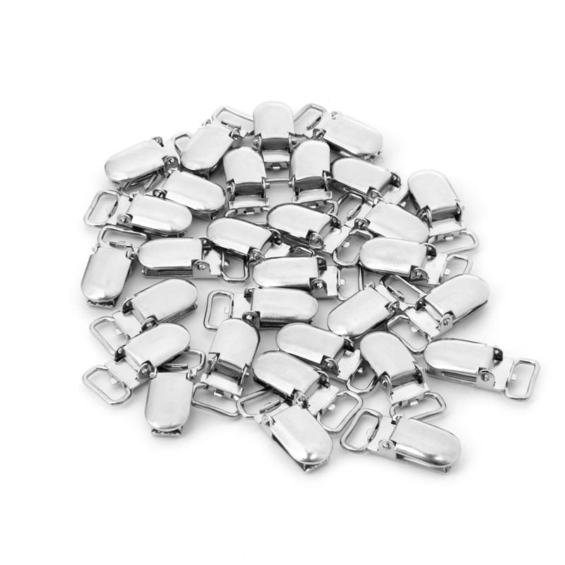 30Pcs/Set Metal Pacifier Clip Baby Pacifier Suspenders Clips Metal Mitten Dummy Nipples Holders Suspender Pacifier Holder